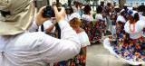 Turistas franceses são recepcionados ao toque do Tambor de Crioula em SL